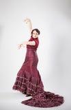 Danseur espagnol féminin de flamenco Image stock