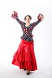 Danseur espagnol féminin de flamenco Images stock