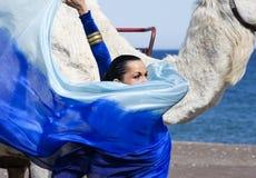 Danseur et chameau de ventre Images stock