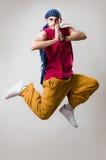 Danseur expressif dans le mouvement Photographie stock libre de droits