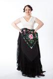 Danseur féminin et espagnol de flamenco Image stock