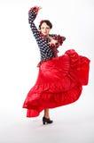 Danseur féminin et espagnol de flamenco Photos libres de droits