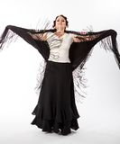 Danseur féminin et espagnol de flamenco Images libres de droits