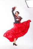 Danseur féminin et espagnol de flamenco Image libre de droits