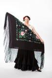 Danseur féminin et espagnol de flamenco Photographie stock