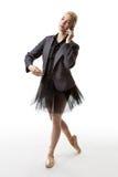 Danseur faisant un appel Image stock