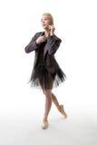 Danseur faisant un appel Photo stock