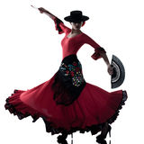Danseur gitan de danse de flamenco de femme Photos stock