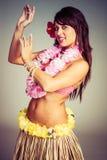 Danseur hawaïen de danse polynésienne images stock