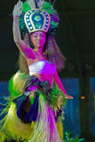Danseur hawaïen de Luau Image libre de droits