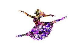 danseur heureux avec l'effet de éclaboussement coloré Images stock