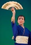 Danseur japonais de festival Images stock
