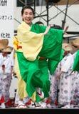 Danseur japonais de festival de Daihanya Images libres de droits