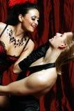 Danseur le Moulin rouge de couples Image stock