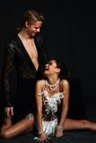 Danseur le Moulin rouge de couples Images stock