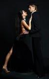 Danseur le Moulin rouge de couples Photographie stock libre de droits