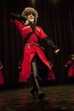 Danseur mâle tchétchène Photographie stock