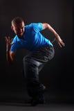 Danseur moderne frais dans l'action Photographie stock libre de droits