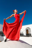 Danseur rouge de flamenco Photos libres de droits