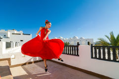 Danseur rouge de flamenco Photo stock