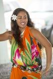Danseur sur l'île à Rarotonga, cuisinier Islands, South Pacific Photo libre de droits