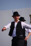 Danseur traditionnel, Holloko, Hongrie Image stock