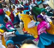 Danseurs à un défilé, le jour de Quito, Equateur Photo libre de droits