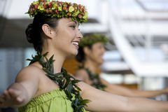 Danseurs 4 de Hula Photographie stock libre de droits