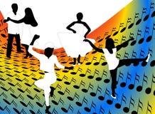 Danseurs illustration de vecteur