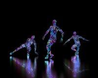Danseurs abstraits de disco Image libre de droits