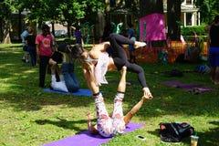 Danseurs acrobatiques 7 Images libres de droits