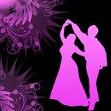 Danseurs avec le vecteur grunge Image libre de droits