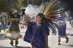 Danseurs aztèques photos stock
