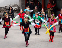 Danseurs chinois images libres de droits