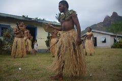 Danseurs d'indigène de Fijian Images libres de droits