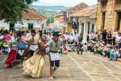 Danseurs dans Barichara images stock