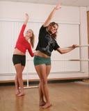Danseurs dans le mouvement Photo stock