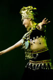 Danseurs de Chinse. Troupe d'art de Zhuhai Han Sheng. Festival de printemps 2013 Image libre de droits