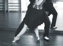 Danseurs de danse de salle de bal Images libres de droits