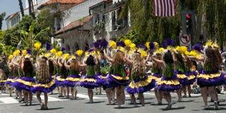 Danseurs de défilé de solstice Image libre de droits