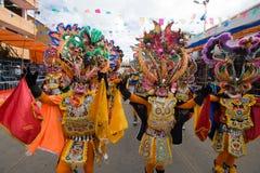 Danseurs de diable au carnaval d'Oruro en Bolivie image stock