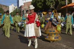 Danseurs de Morenada au carnaval d'Oruro en Bolivie photos libres de droits
