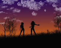 Danseurs de nuit Photo libre de droits