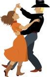 Danseurs de polka illustration stock
