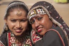 Danseurs de poupée de Rajasthani Image libre de droits