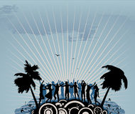 Danseurs de réception Image stock