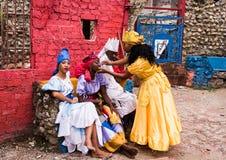 Danseurs de Santeria - Callejon de Hamel/Hamel Alley photo stock