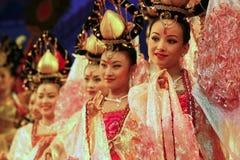 Danseurs des troupes de danse de la Chine Images libres de droits