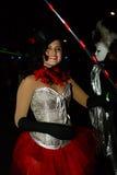 Danseurs du défilé de carnaval grand 2016 à Madrid, Espagne Images stock