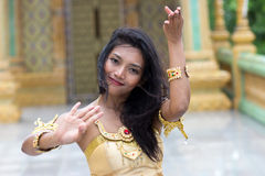 Danseurs du style thaïlandais traditionnel Photo stock